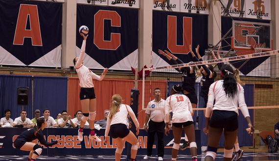 Syracuse volleyball relies on 'quick dump' hit to freeze opponents